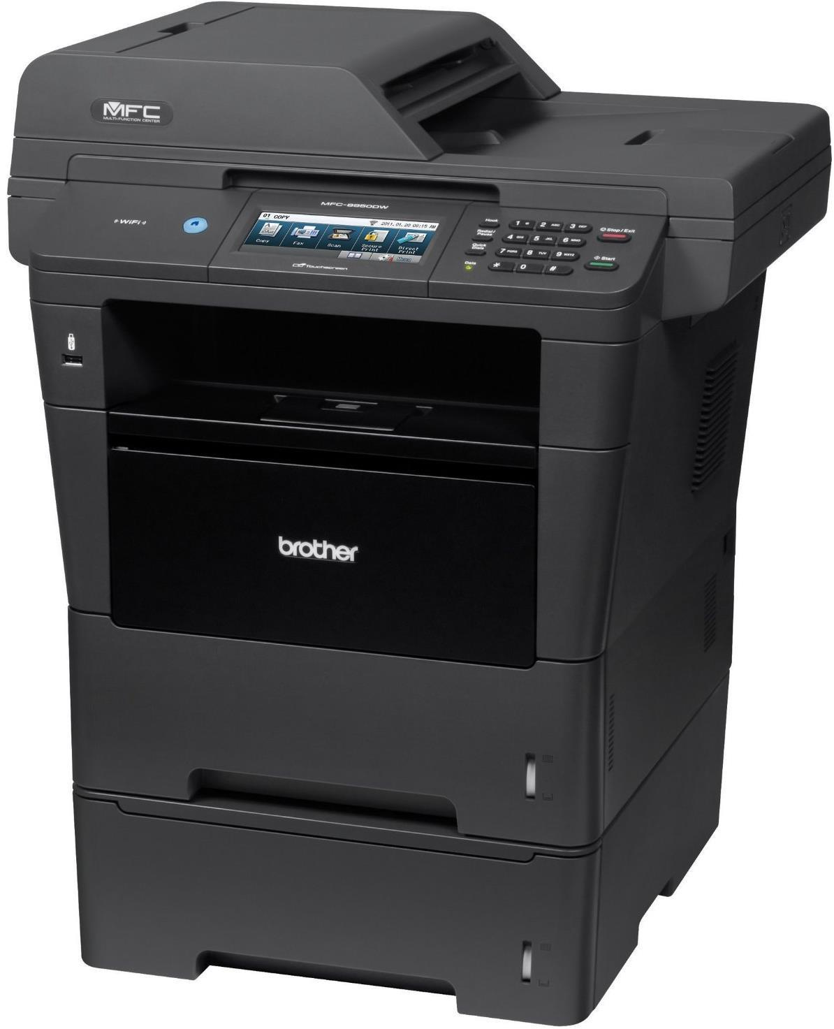 Brother MFC-8950Dwt Mono Multifunction Laser Printer With Lower Tray