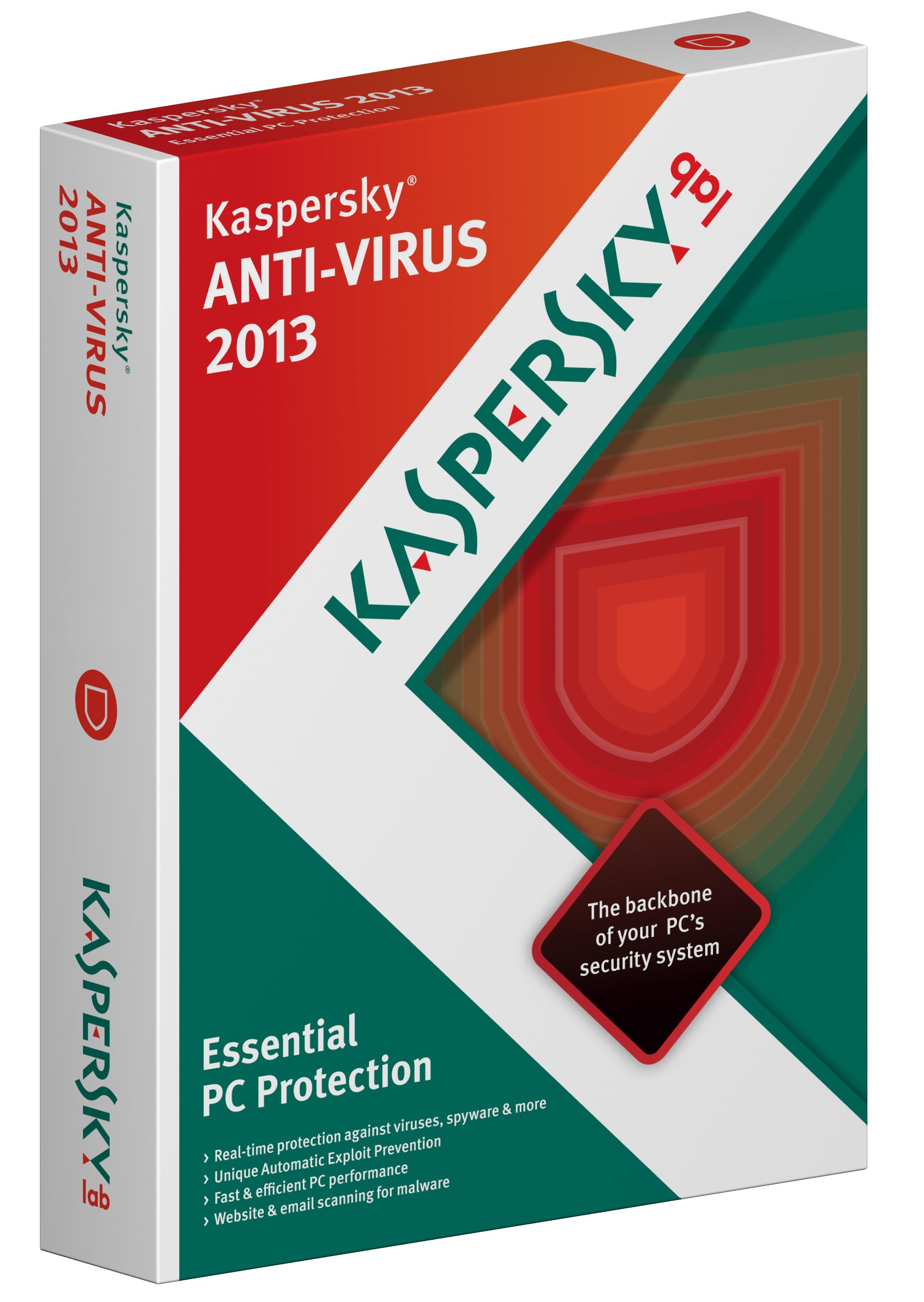 Kaspersky Anti Virus 2013 DVD