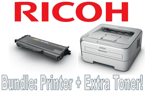Ricoh Printer Toner Bundle Save £20 - Sp1210N 22Ppm A4 Mono Laser Network Networkable Printer