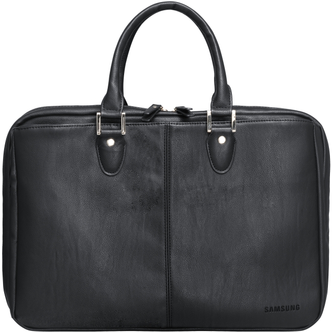 "Genuine Samsung Black Leather 13.3"" - 15.6"" Notebook Carrying Case - RRP £99.97"