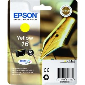 Epson Singlepack Yellow 16 DURABrite Ultra Ink Cartridge EIC