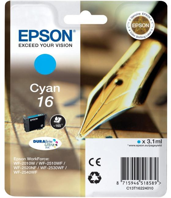 Epson DURABrite Ultra 16 Ink Cartridge - Cyan