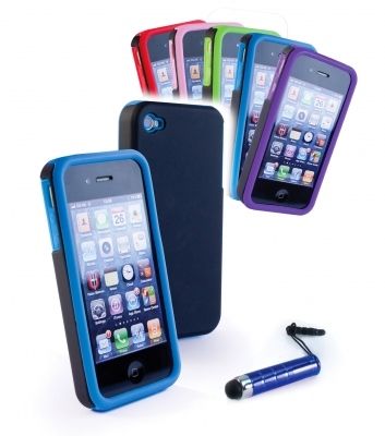 E-Volve E-Volve Gel ''twin-Skin'' Smartphone Kit For Apple Iphone 4/4S (case