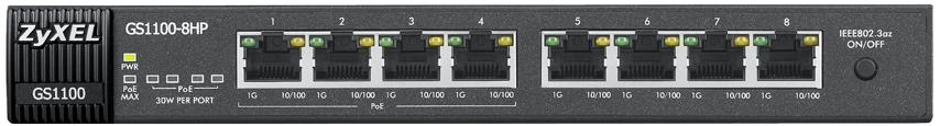 Zyxel GS1100-8HP 8-Port Gigabit Unmanaged Ethernet Switch
