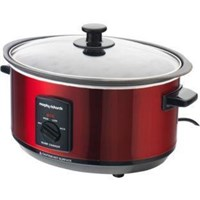 Morphy Richards 48702 3.5L Aluminium Slow Cooker - Red.