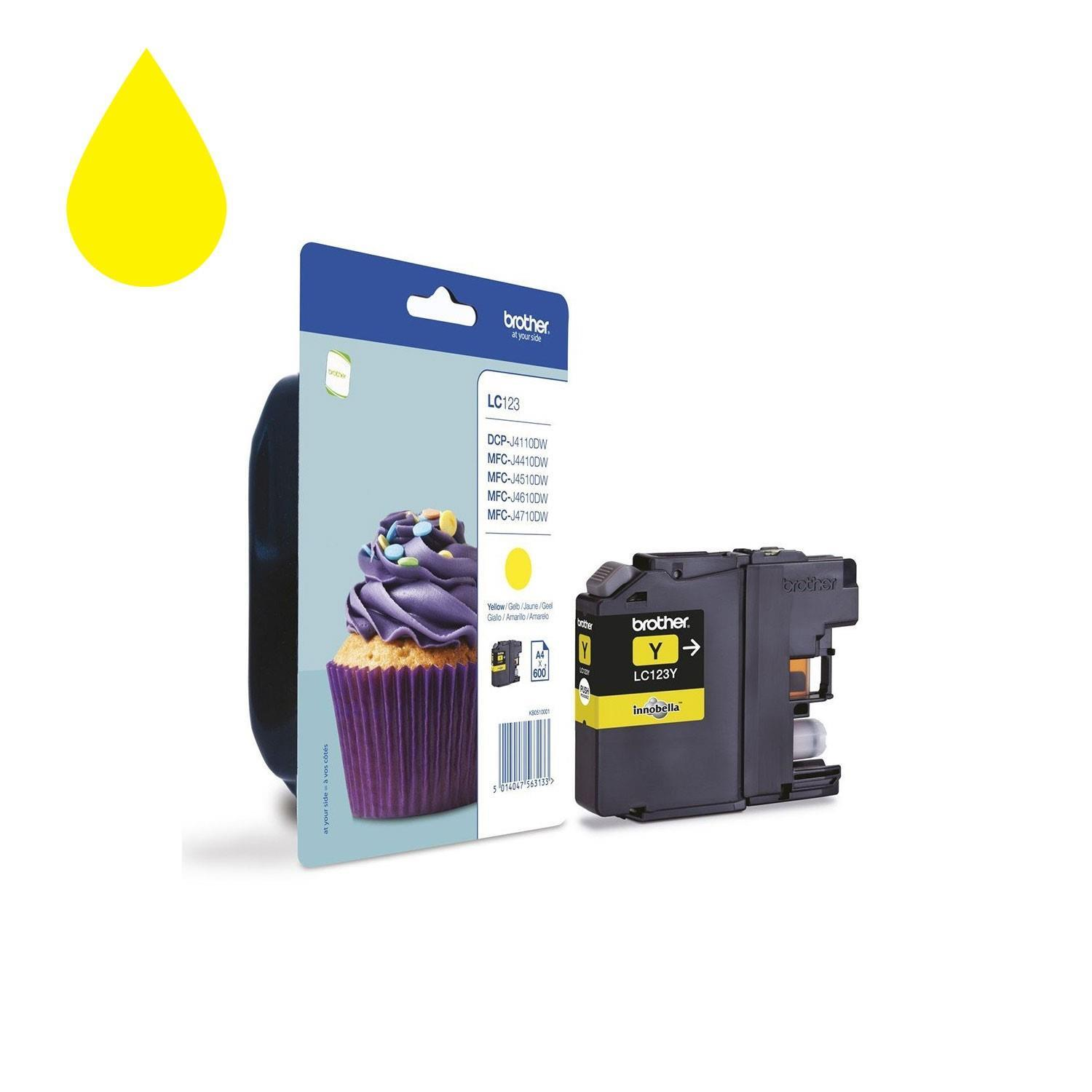 Brother LC123Y Ink Cartridge - Yellow