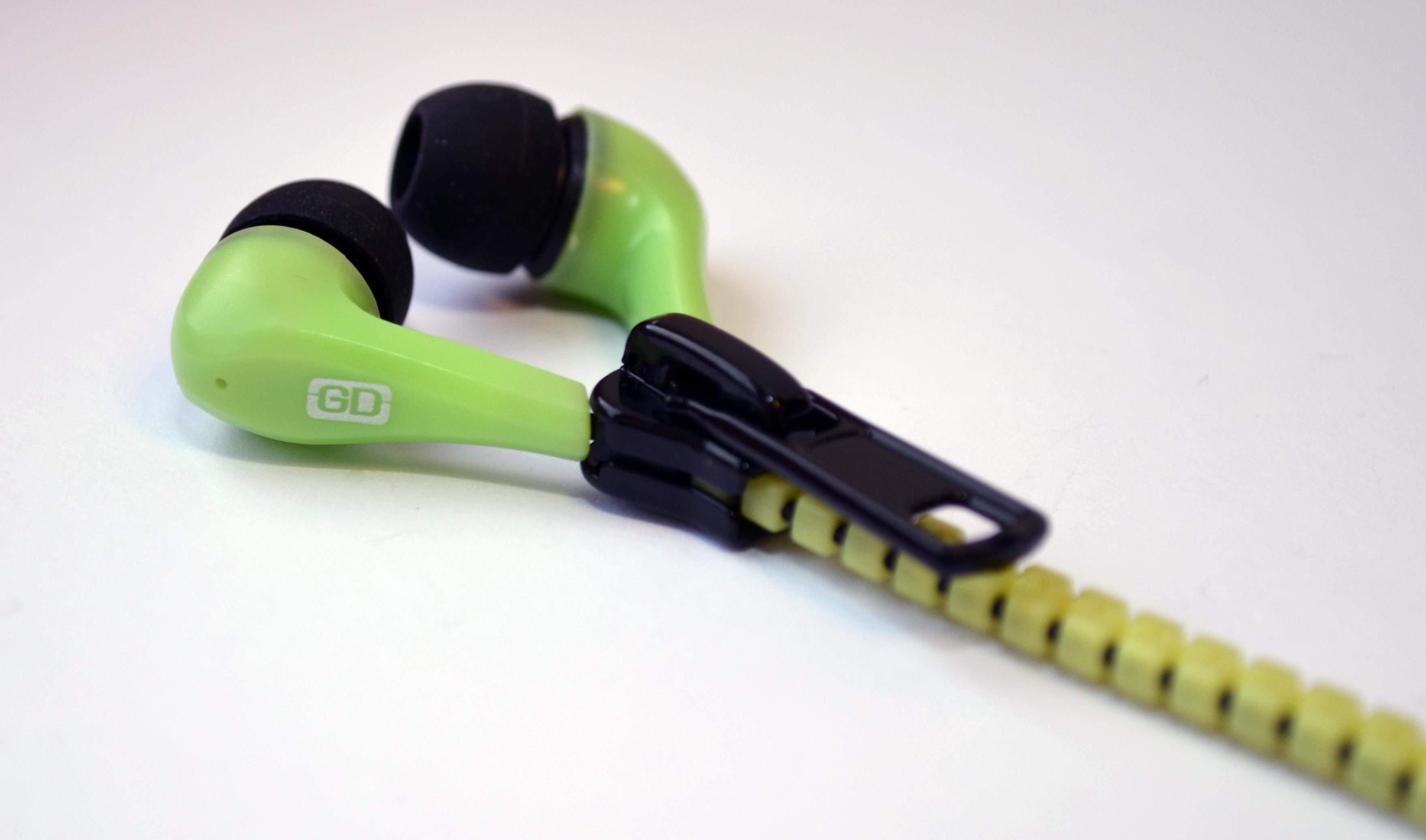 Gemini Zippy Tangle Free In Ear Zip Headphones (Yellow)