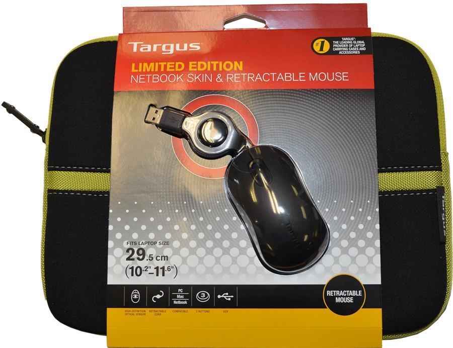 "Targus 11.6"" Laptop Case & Mouse - Black & Lime Green"