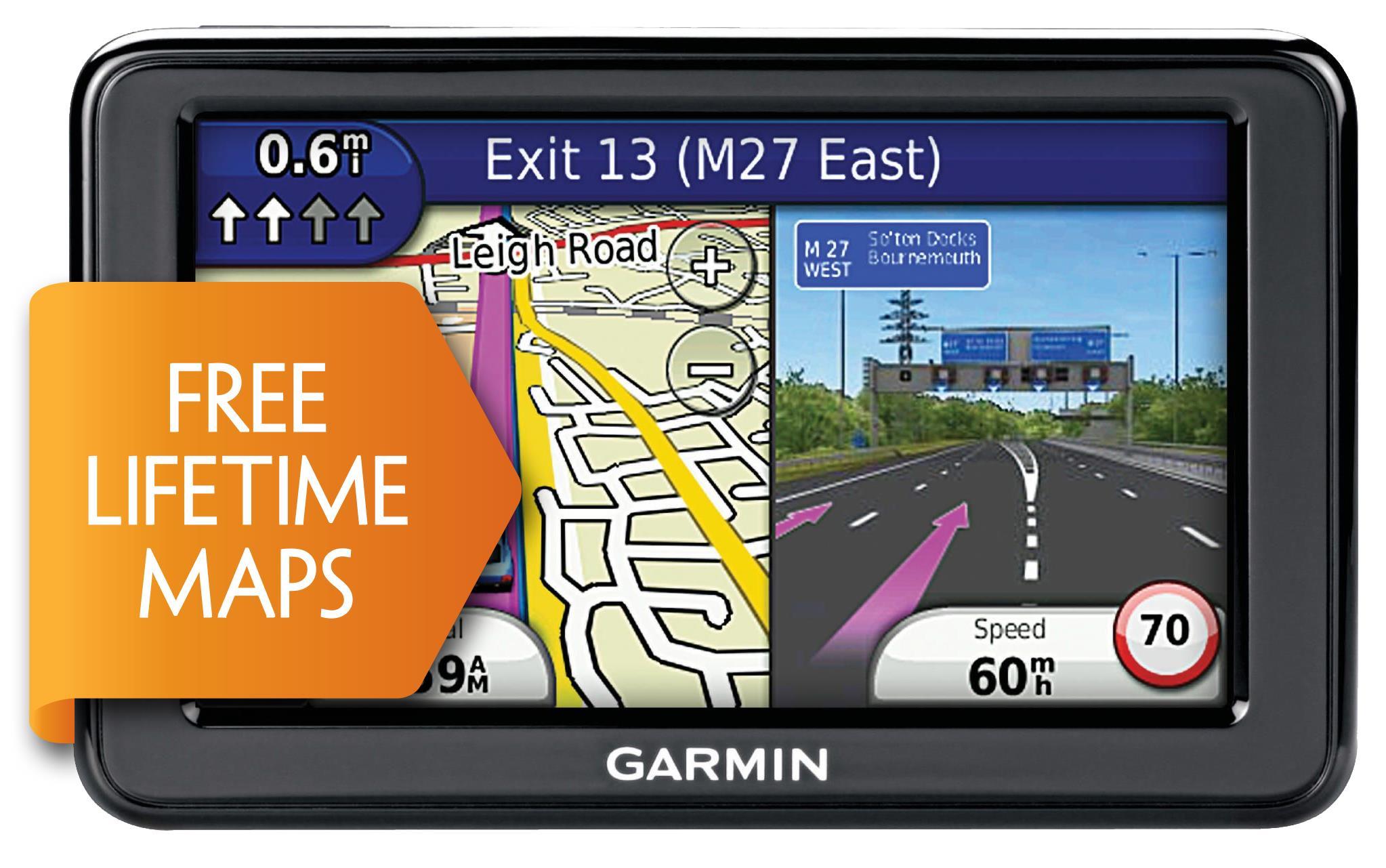 Garmin Nuvi 2415LM Sat Nav with Handsfree Bluetooth - UK & ROI Lifetime Map Updates Worth £74.99