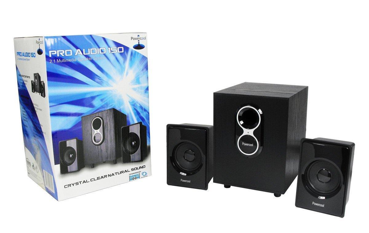 Powercool Pro Audio 150 2.1 Speakers 20W Rms Wood Subwoofer 150W Pmpo