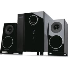 Microlab M910 2.1 Speaker System in Gloss Black with Toslink Coxial Connection / RCA