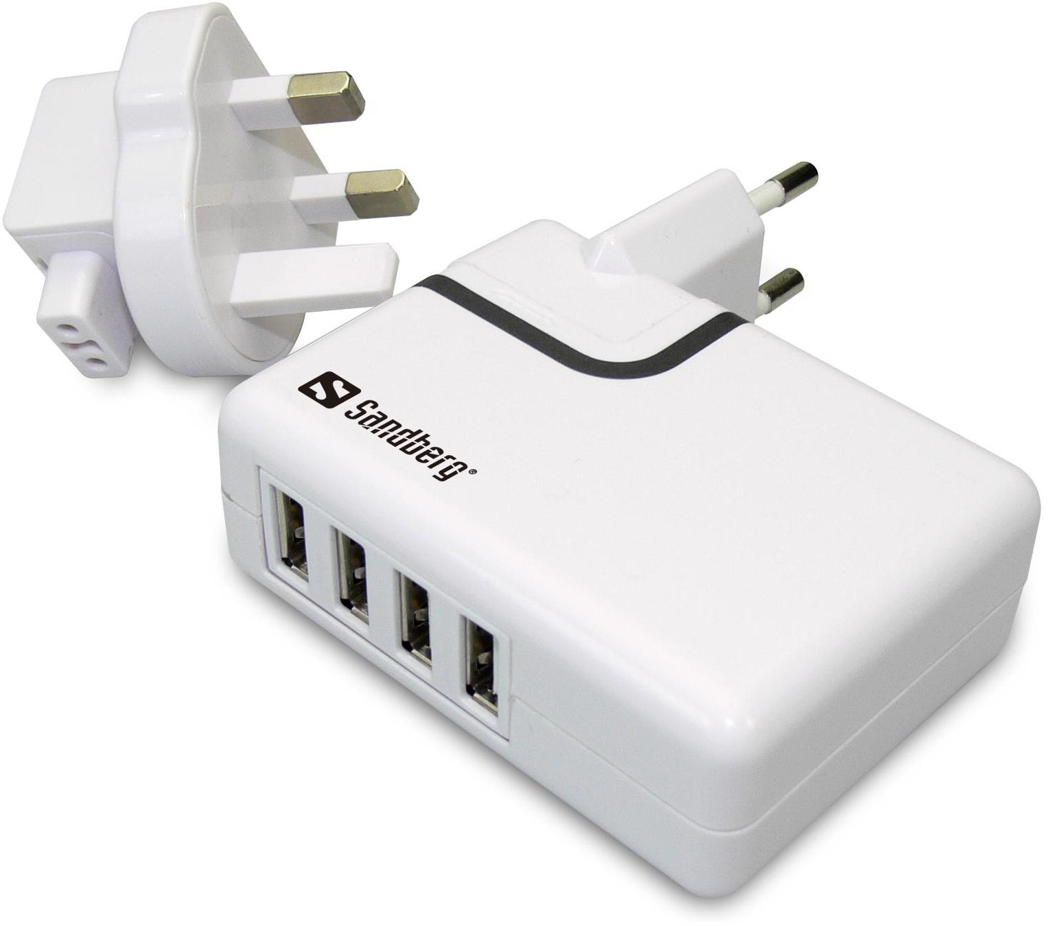 Sandberg 4-in-1 USB AC UK Charger