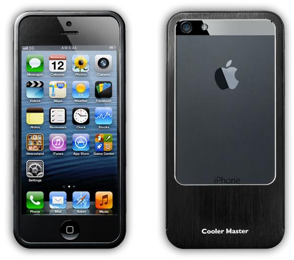 CoolerMaster iPhone 5 Aluminium Slider Bumper Case - Black