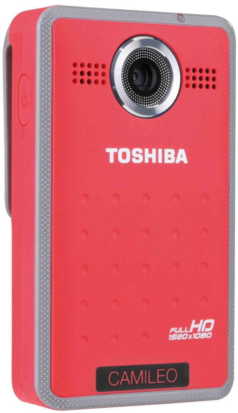 Toshiba Camileo Clip Splashproof Full HD Mini Camcorder - Red