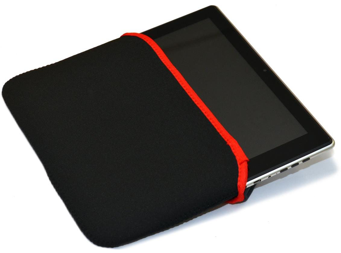 "Black Red Stylish Red Edge Tablet 9.7"" Joytab Tablo Slip Case"