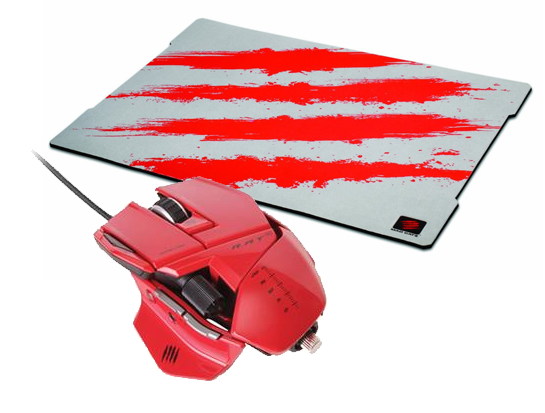 Mad Catz Cyborg R.A.T. 5 (Red) + FREE G.L.I.D.E. 5 Surface SAVE £18