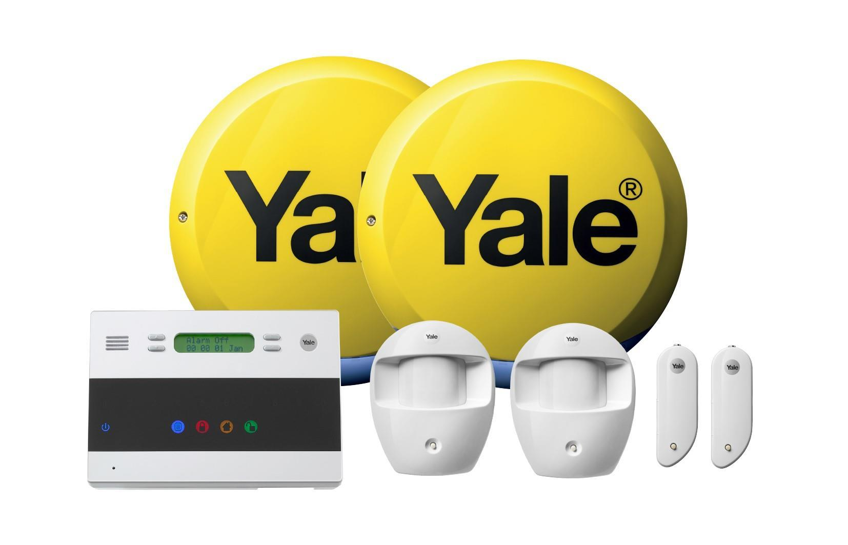 Yale Easy Fit Kit 2 Home Alarm System, 2x PIR, 2x Door Contacts, Control Panel, Siren Box, Dummy Siren Box, 2 Year Warranty
