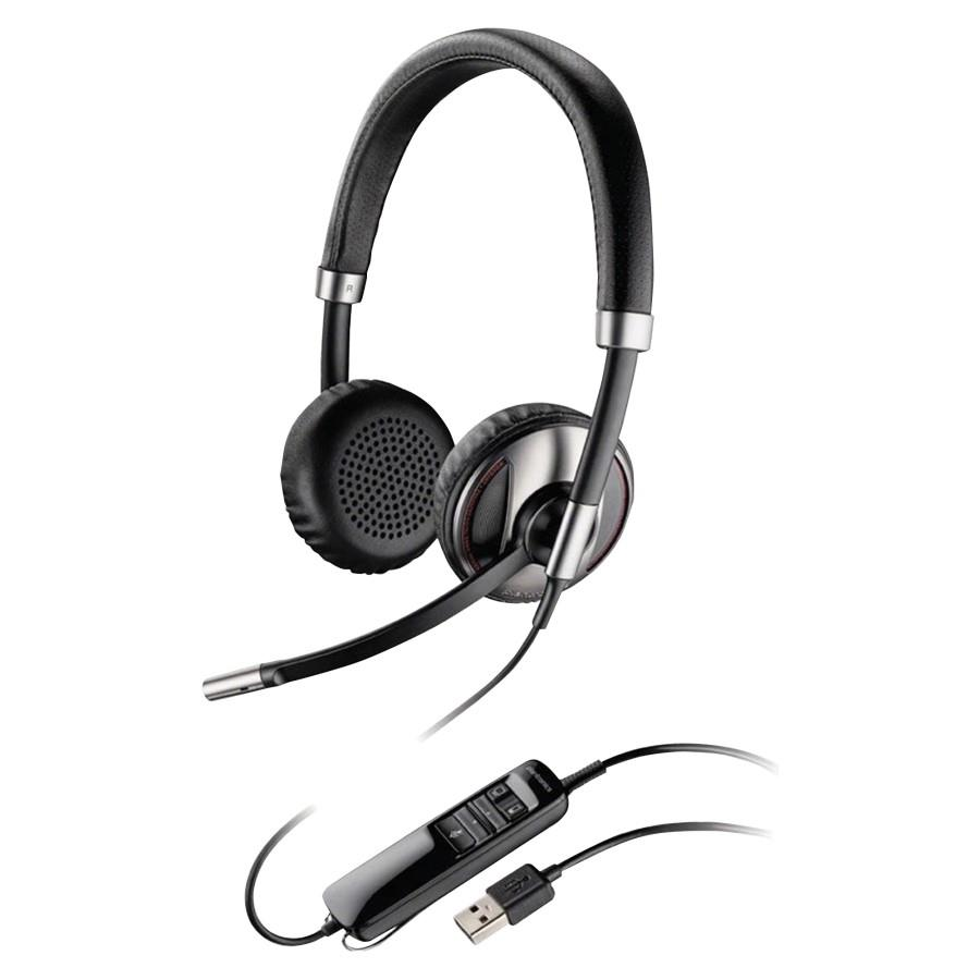 Logitech H570e Wired Stereo Headset Over The Head Supra Aural H110 Plantronics Blackwire C520