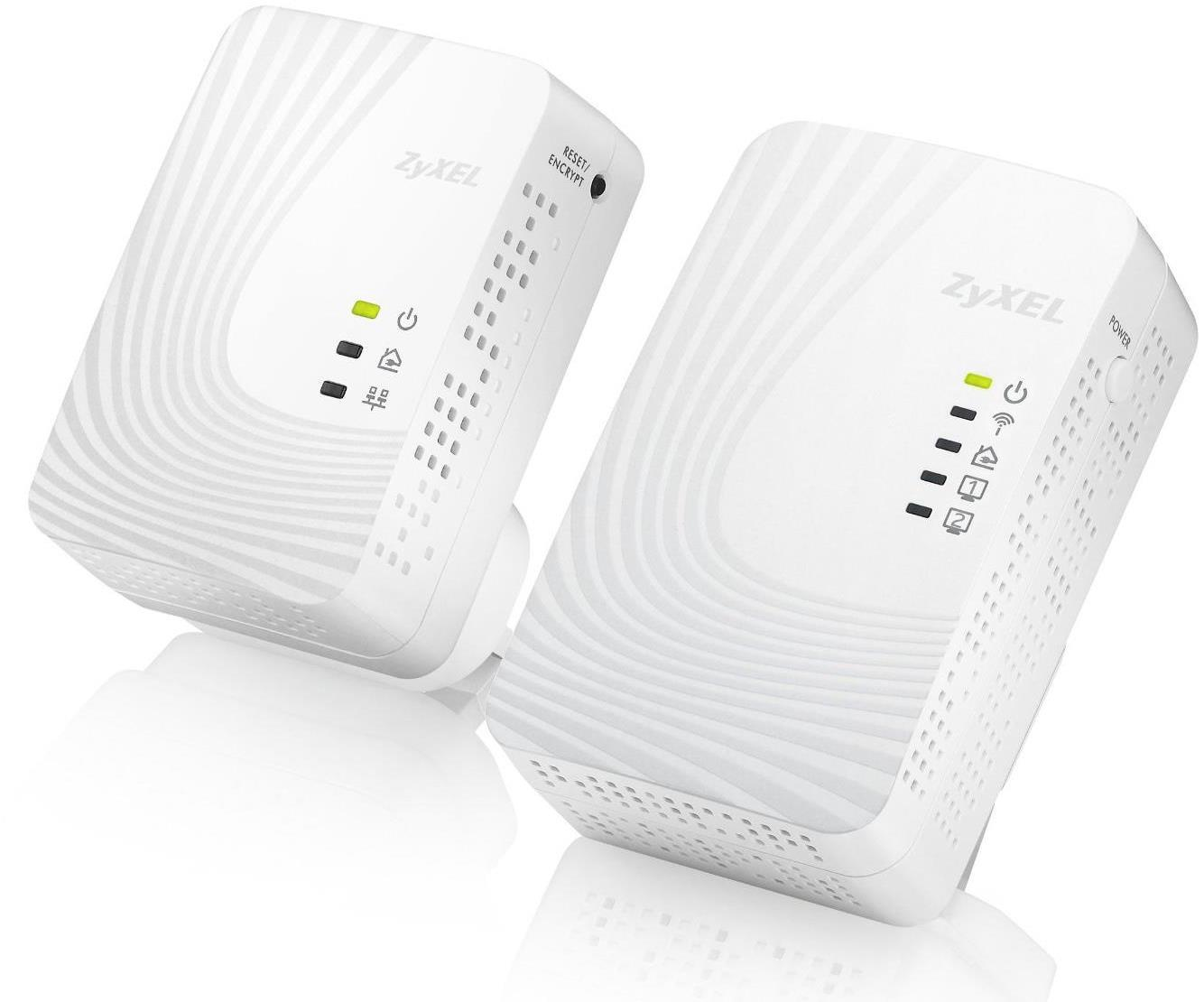 Zyxel PLA4231 500Mbps Mini Powerline Wireless N300 Extender Kit PLA4231 + PLA4201