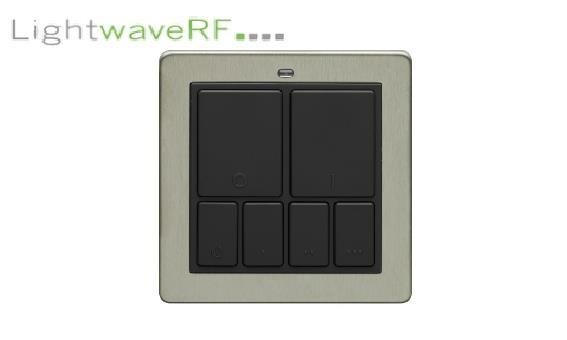 Lightwave Rf Wireless Mood Control Master Wall Switch- Stainless Steel