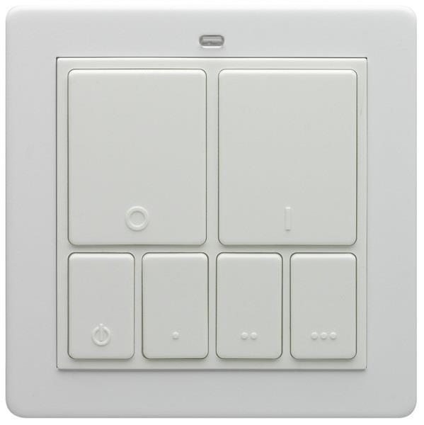 Lightwave Rf Wireless Mood Control Master Wall Switch - White