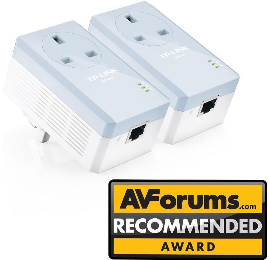 TP-Link TL-PA451KIT AV500 Powerline Adapter with AC Pass Through Starter Kit