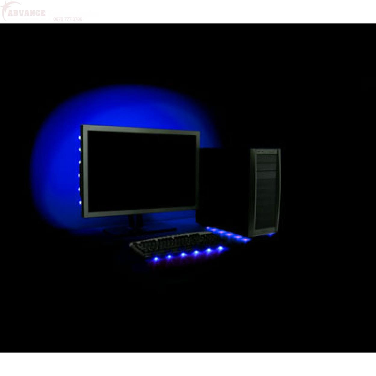 Antec Advance Accent Lighting 6 Blue Led Usb Powered Strip
