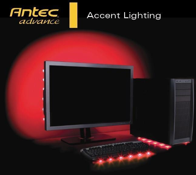 Antec Advance Accent Lighting 6 Red Led Usb Powered Strip