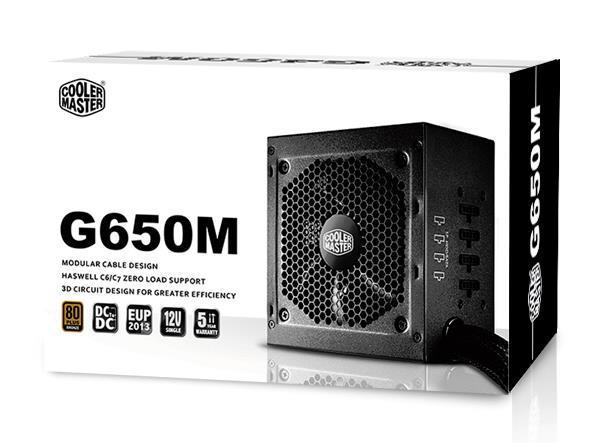 Cooler Master GM-Series Semi Modular G650M 650W 80PlusBronze PSU UK Cables