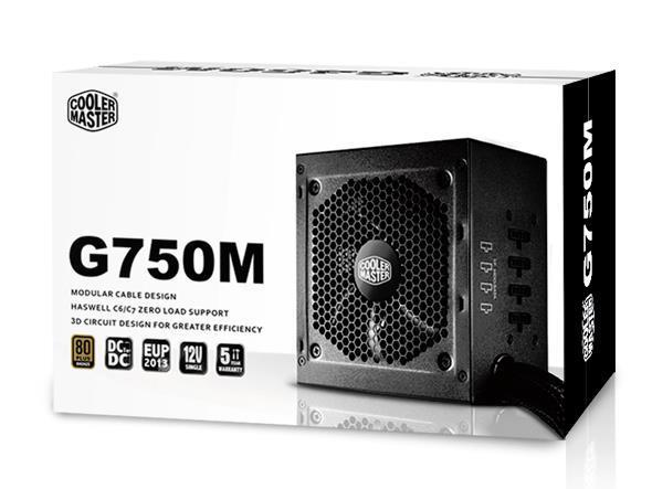 Cooler Master GM-Series Semi Modular G750M 750W 80PlusBronze PSU UK Cables