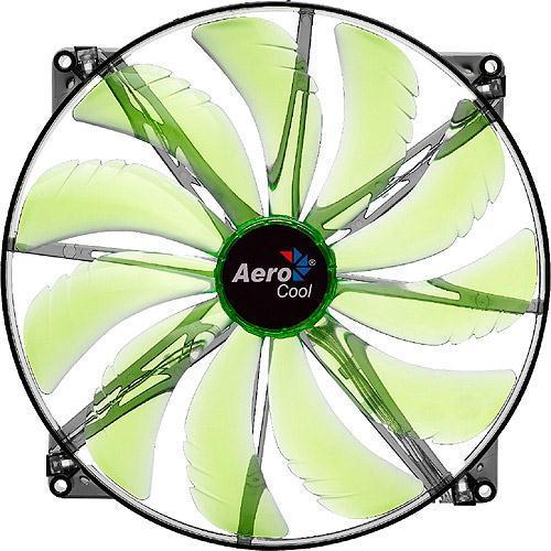 Aerocool Shark 14cm Quad Green LED Cooling Fan