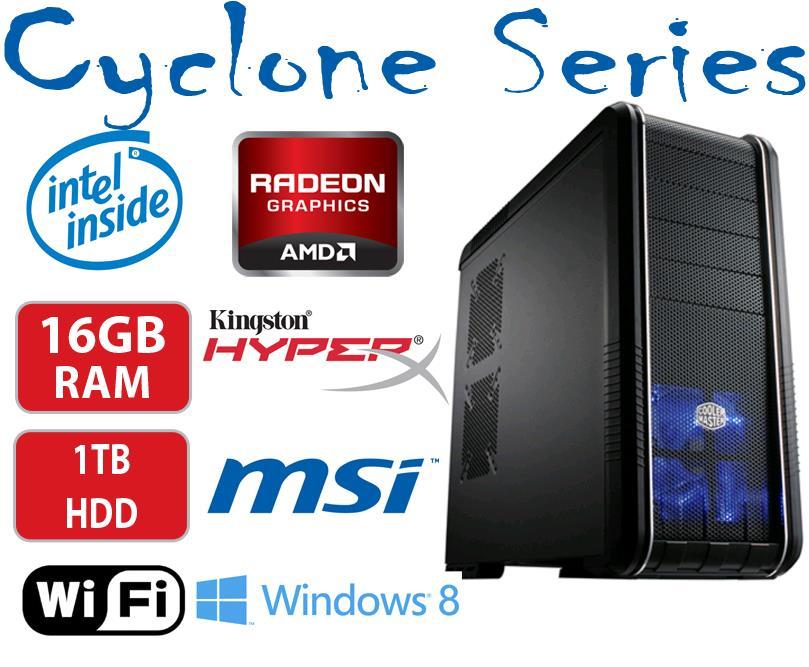 Box Cyclone Gaming PC Core i3 with Radeon R9 270X Graphics