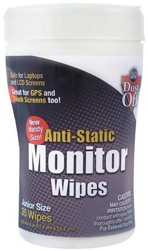 Dust-Off Anti-static Monitor LCD Screen Wipes – 35ct