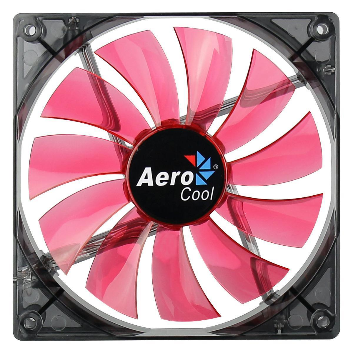 Aerocool Lightning Series Transparent 14Cm 140mm Red Led Case Fan
