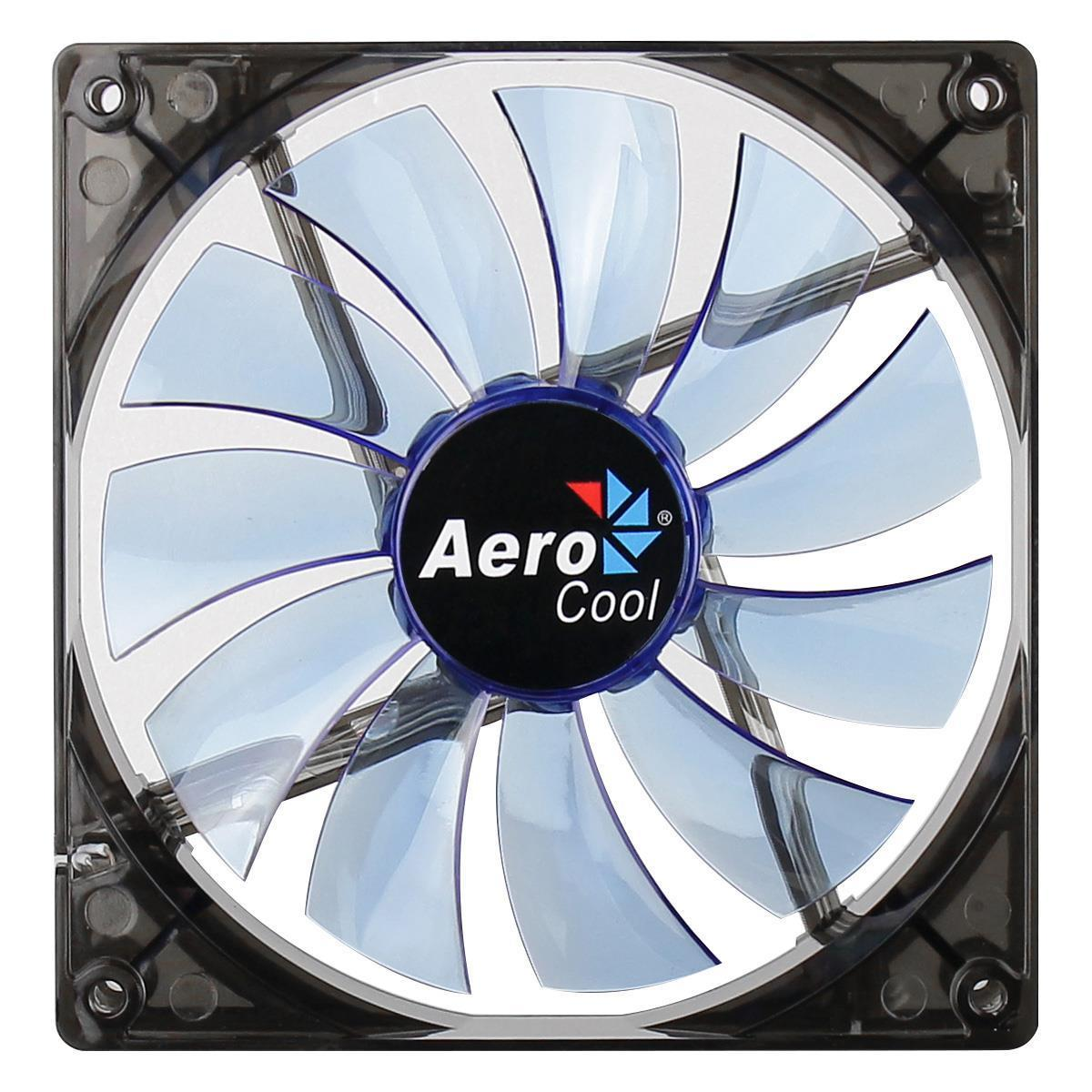 Aerocool Lightning Series Transparent 14Cm Blue Led Fan