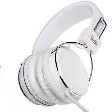 Dynamode Stereo Headphones Headset With Inline Volume And Microphone 3.5Mm Jack White