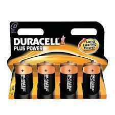 Duracell Plus Power Long Lasting Size D Battery 4x Pack of Batteries