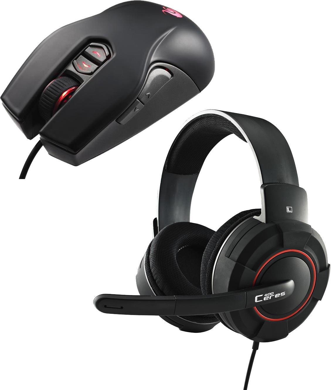 Cooler Master Storm Gaming Bundle - CM Storm Ceres 400 Gaming Headset & CM Storm Recon USB Gaming Mouse