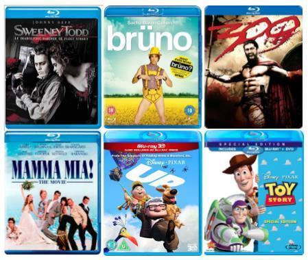 Samsung Bluray DVD X 6 Box Set