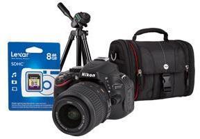 Nikon D5100 16MP Digital SLR Camera (Body with Lens Kit) Bundle