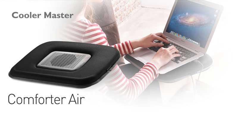 Cooler Master Notepal Comforter Air - Laptop Cooler with Soft Cushion Base for upto 15.6'' Laptop