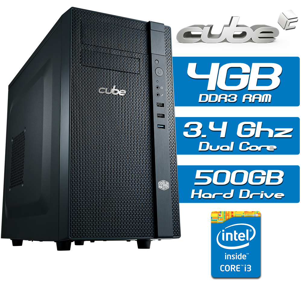 Cube B Series Core i3 Dual Core Desktop Tower System