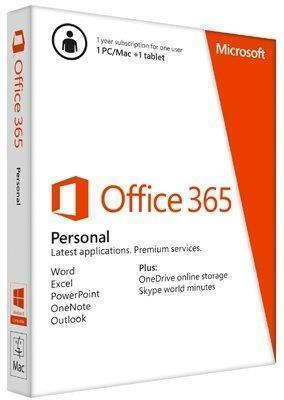 Microsoft Office 365 Personal 32/64 Bit 1 Year Subscription - Electronic Software Download