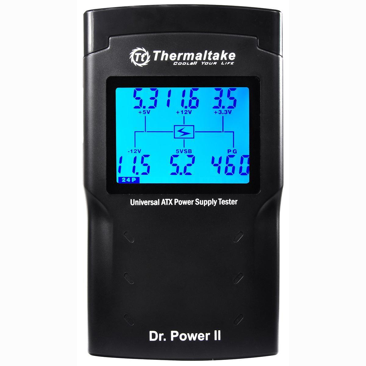 Thermaltake Dr Power supply Ii Psu Tester 20 24 6 8 Molex Tester AC0015