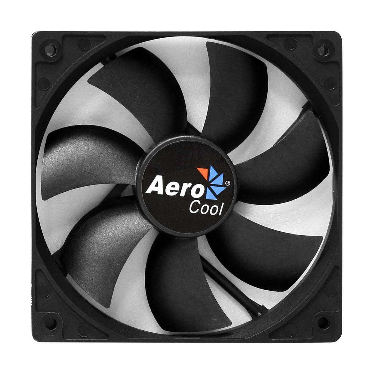Aerocool Dark Force 8Cm Black Fan Retail Packed 7 Blades Anti-Vibration Screws