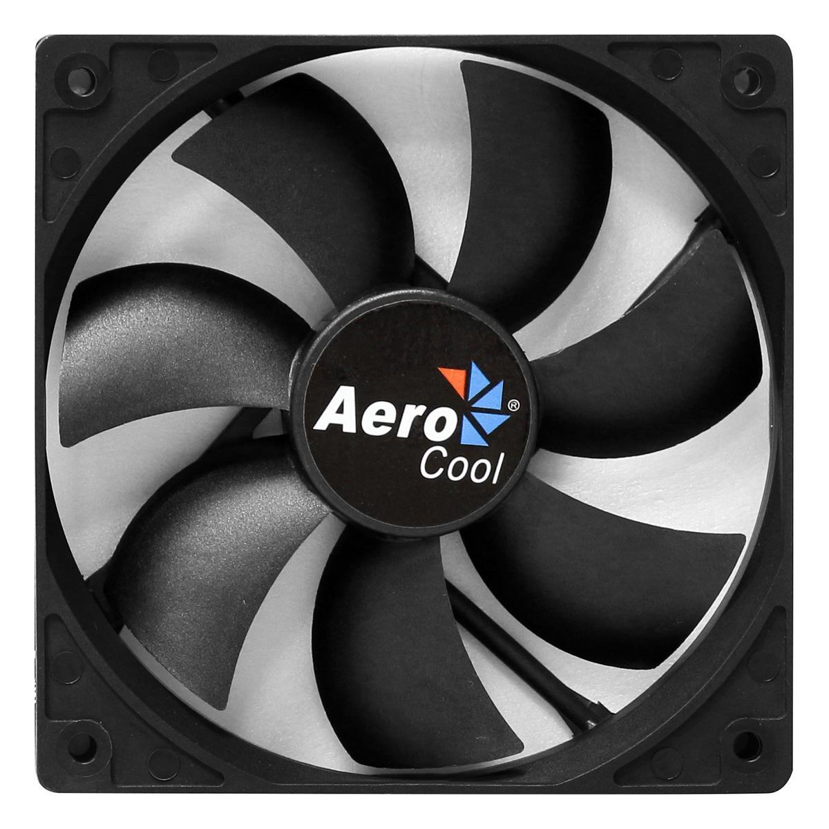 Aerocool Dark Force 9Cm Black Fan Retail Packed 7 Blades Anti-Vibration Screws