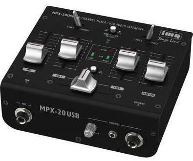 Stage Line 3-Channel Stereo Dj Mixer With USB Interface
