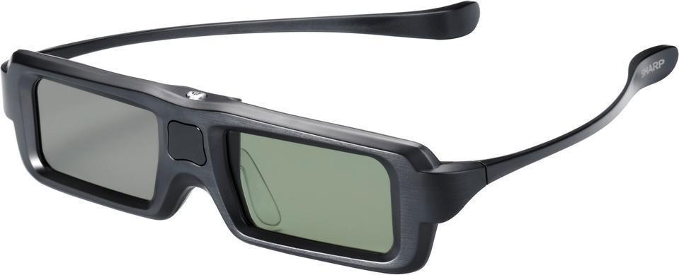 Sharp Black 3D Glasses With 3D To 2D Conversion