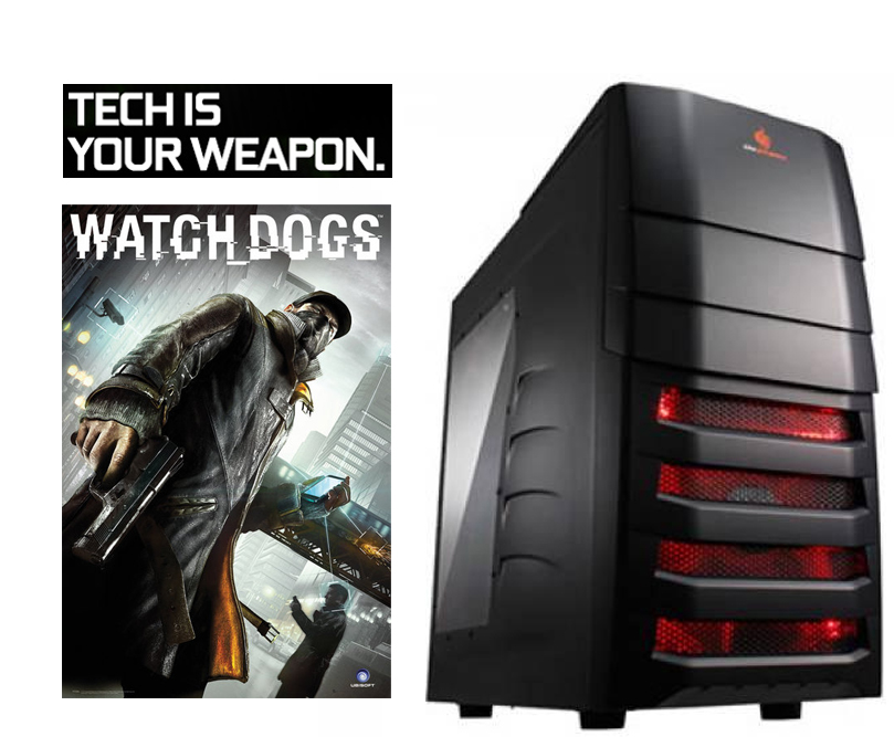 Cube Watch_Dogs S.E. Overclocked Gaming PC Core i5 with Geforce GTX 780 Graphics