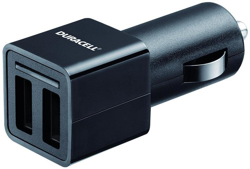 Duracell  DR5010A Twin 2.4A USB in Car Charger for Tablet PC's